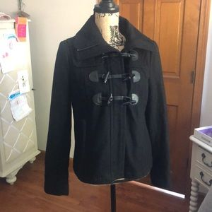 Express Pea Coat Short Black